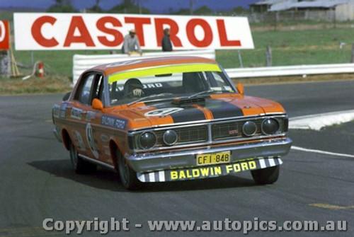 71811  - D. Beck / G. Rush  Ford Falcon  XY GTHO Phase 3 -   Bathurst  1971- Photographer Jeff Nield