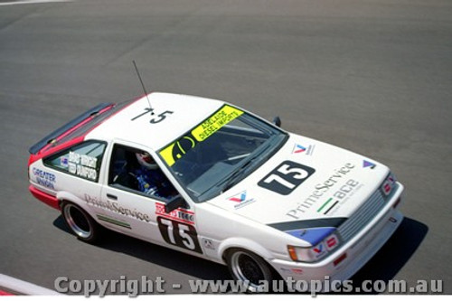 91754  - B. Wright / T. Dumford  -  Bathurst 1991 - Toyota Corolla -  Photographer Lance Ruting