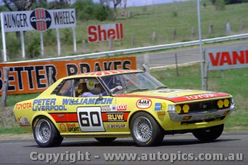 77816 - P. Willianson / G. Scott Toyota Celica  43 laps completed- Bathurst 1977 -  Photographer  Lance J Ruting