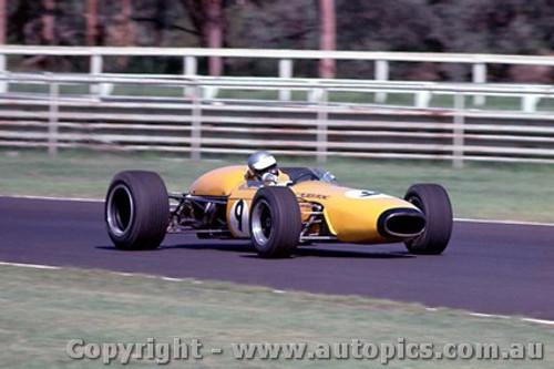 68573 -  Kevin Bartlett Repco Brabham Climax - Warwick Farm Tasman Series 1968 - Photographer Richard Austin