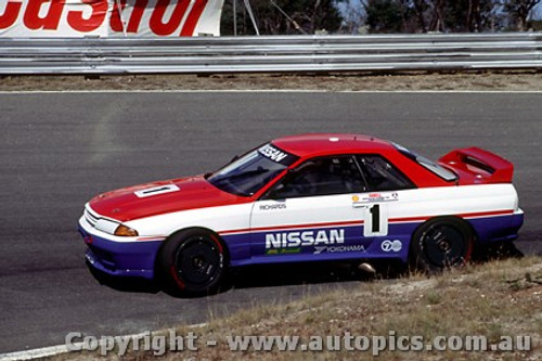 91013 - J. Richards  Nissan GTR - Symmons Plains 1991