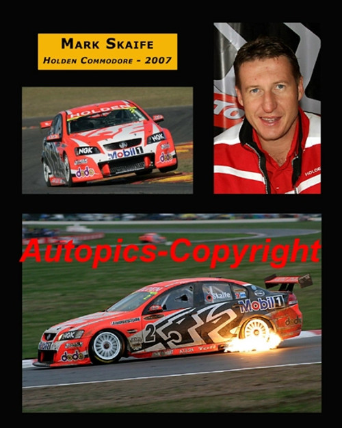 457 - Mark Skaife  Holden Commodore  -  A collection of 3 Photos from 2007 - 20x16 inches   500x400mm