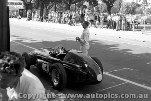56506 - Reg Parnell  Ferrari - Australian Grand Prix, Albert Park 1956 -  Photographer Peter D Abbs