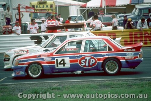 83019 - Wigston / Harrington -  Holden Commodore VH - Calder Park Raceway 1983 - Photographer Peter Green