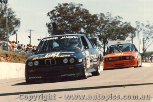 88763 - T. Crowe / P. Janson - BMW M3 - Bathurst 1988