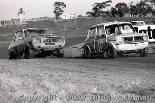 72975 - M. Browning Mini / B. Watson Renault - Calder Rallycross 1972 - Photographer Peter D Abbs