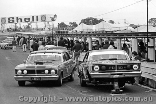 72258 - John French & Allan Moffat  Ford Falcon GTHO Phase 3 - Sandown 1972  - Photographer Peter D Abbs