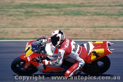 90304 - Wayne Rainey  Yamaha Australian Moto GP Eastern Creek 1990 - Photographer Lance J Ruting