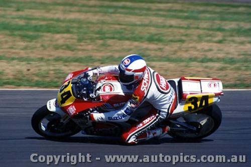 90305 - Keven Schwantz Suzuki  Australian Moto GP Eastern Creek 1990 - Photographer Lance J Ruting