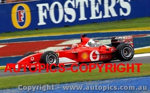 202513 - Michael Schumacher - Ferrari - Winner Australian Grand Prix 2002 - Photographer Craig Clifford