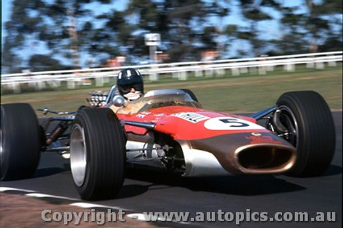 68596 - Graham Hill - Lotus 49 - Tasman Series - Warwick Farm - 1968 - Photographer - Lance J Ruting