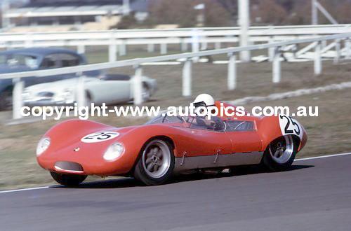 65469 - Frank Demuth Lola Climax  -  Warwick Farm May 1965  - Photographer Adrian Schagen