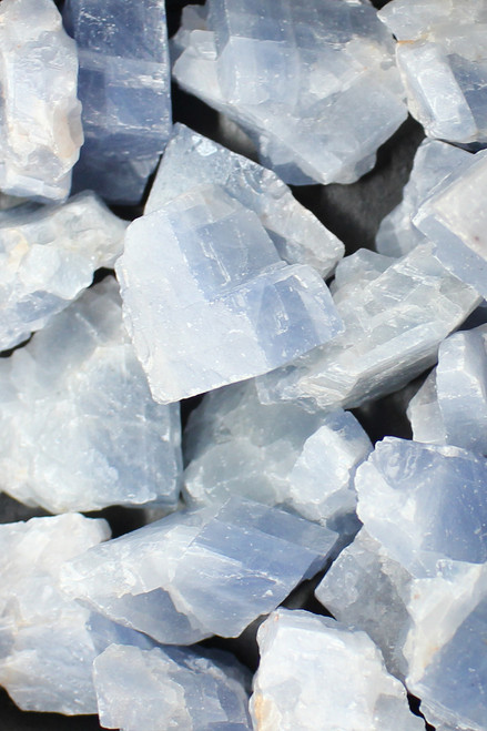 Blue Calcite  Truth, psychic abilities, soothing the emotional body, communication, anxiety