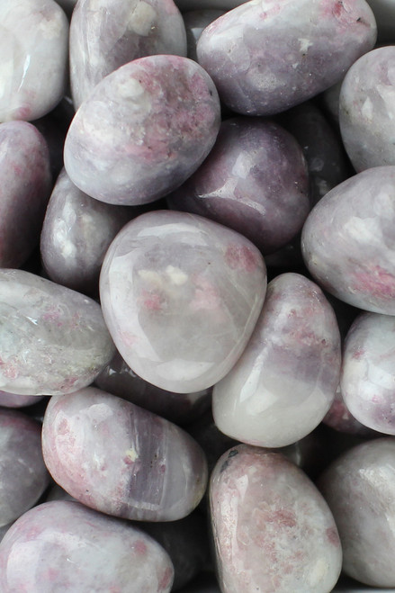 Lepidolite Emotional healing, balance, purification, serenity, relaxation, stress/anxiety relief, contains lithium