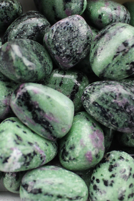 Ruby Zoisite   Increase inner and outer development, awakening of the true self, joyful engagement with life, psychic abilities, spirit guides, release pain and sorrow