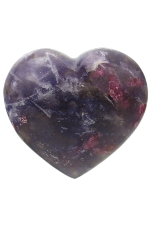 Pink Tourmaline with Lepidolite Heart PTLH04
