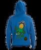 Pineapple Kraken lace hooded sweatshirt