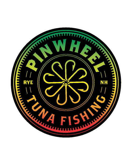Pinwheel Tuna Fishing Round Sticker