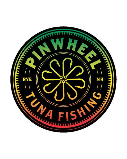 Pinwheel Tuna Fishing Round Sticker