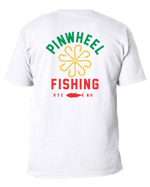 Pinwheel Fishing White Short Sleeve T-shirt