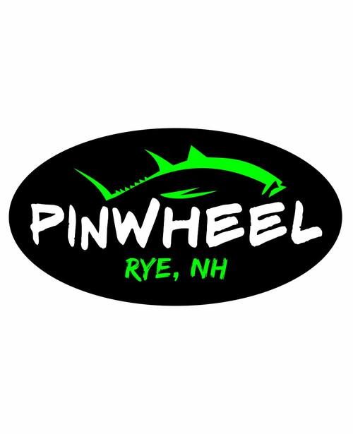 Pinwheel Tuna Oval Sticker