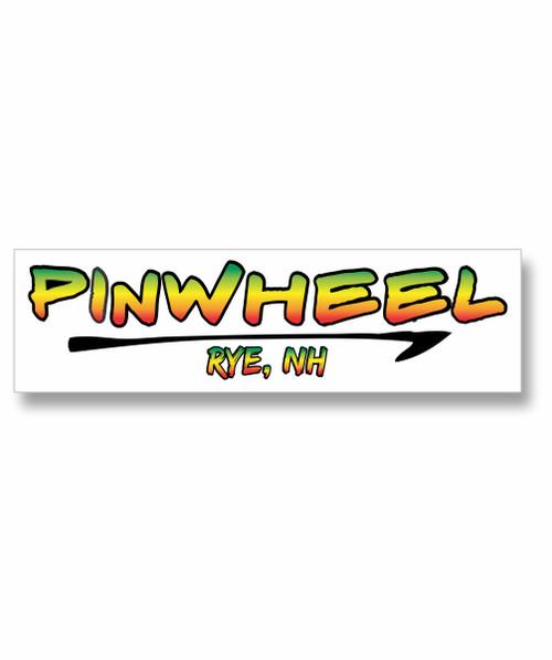 Pinwheel Logo Sticker