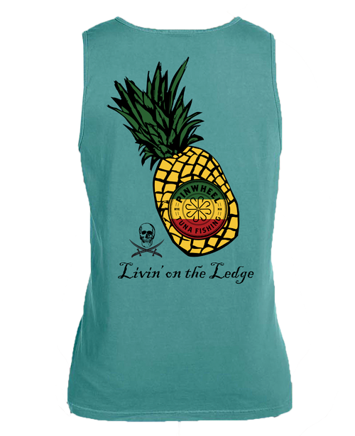 Pineapple garment-dyed tank