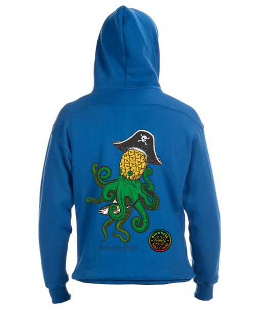 Pineapple Kraken lace hooded sweatshirt