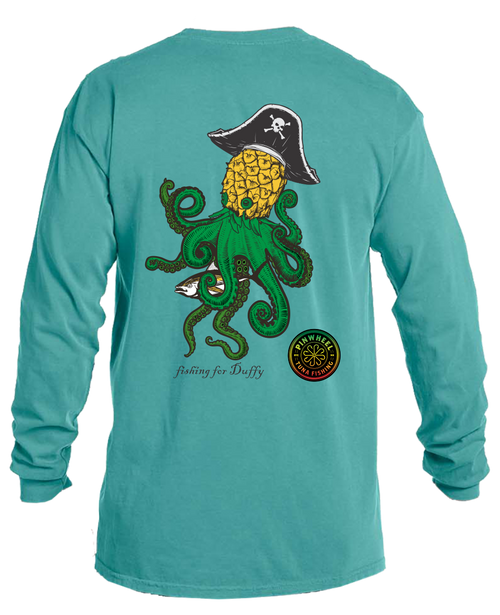 Pineapple Kraken long sleeve tee