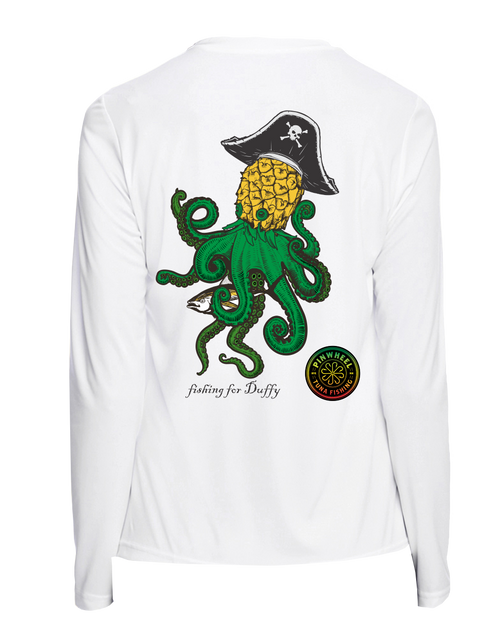 Pineapple Kraken ladies performance long sleeve t-shirt