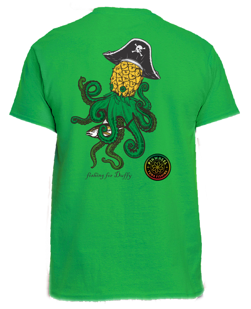Kraken short sleeve green t-shirt