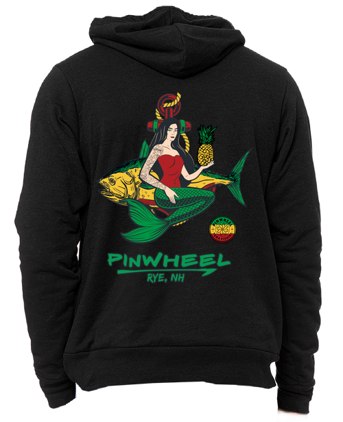 Mermaid Pinwheel Fleece Pullover Sweatshirts