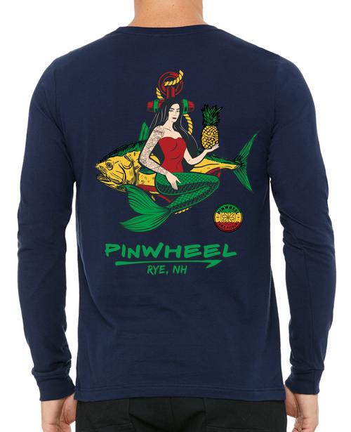 Mermaid Pinwheel Long Sleeve Tees