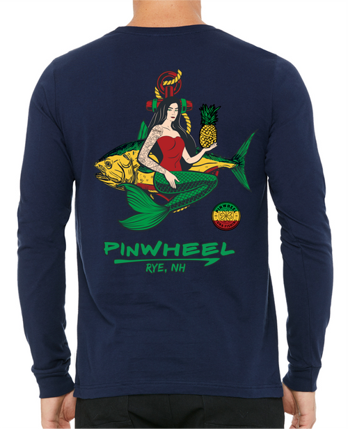 Mermaid Pinwheel Long Sleeve Tees
