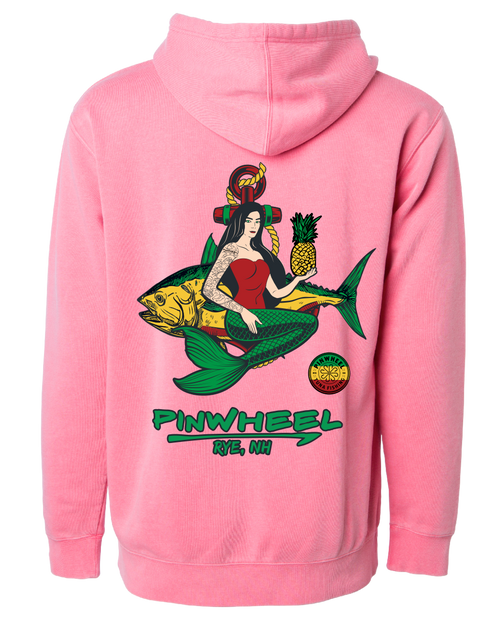 Mermaid Pinwheel Pigment-Dyed Sweatshirts