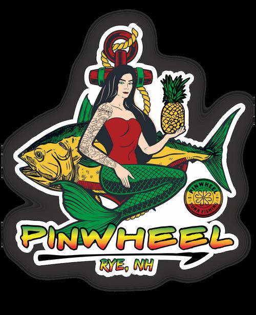 Mermaid Pinwheel Decal