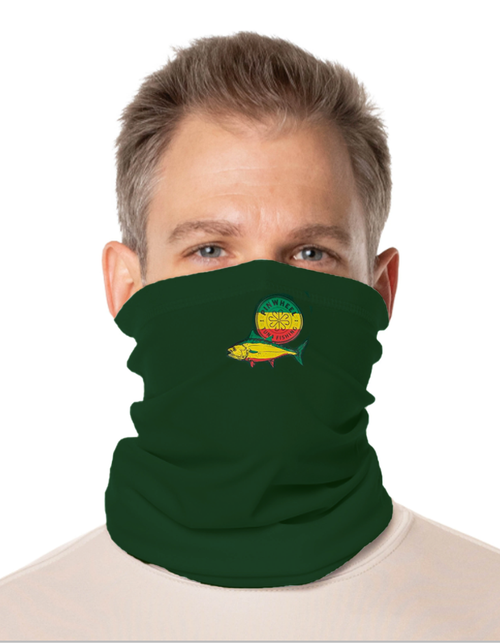 Pinwheel Rasta Fish Face and Neck Gaiter