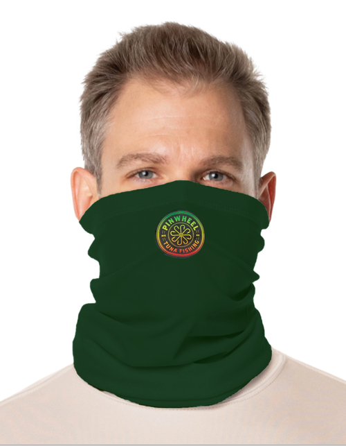 Pinwheel Rasta Face and Neck Gaiter