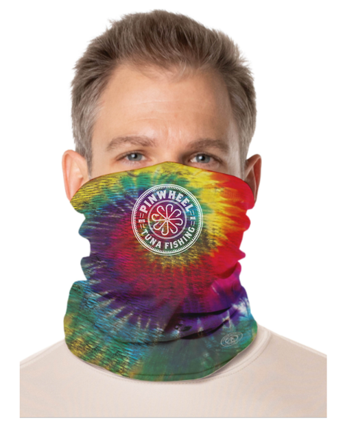 Pinwheel Tie Dye Face and Neck Gaiter
