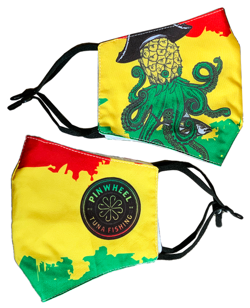 Pinwheel Rasta Full Color Face Mask