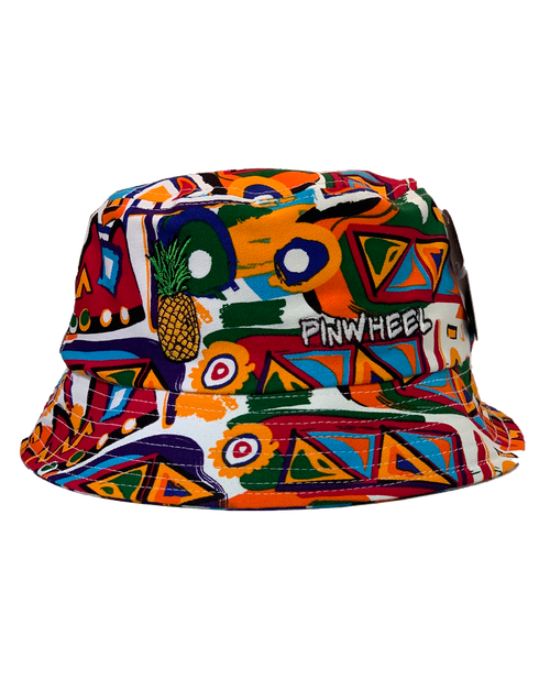 Pineapple Pinwheel Aztec Bucket Hat