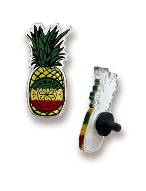 Pinwheel Pineapple Acrylic Pin