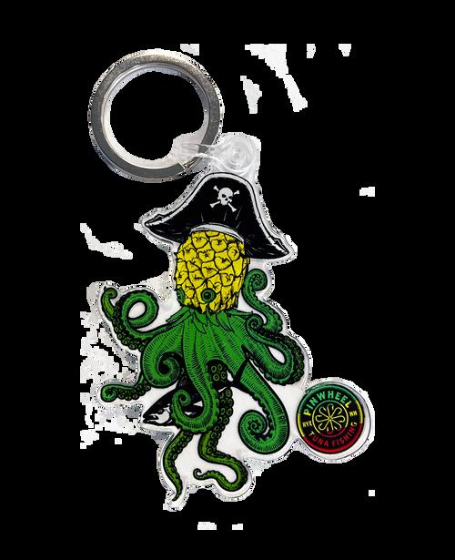 Pineapple Kraken Acrylic Keychain