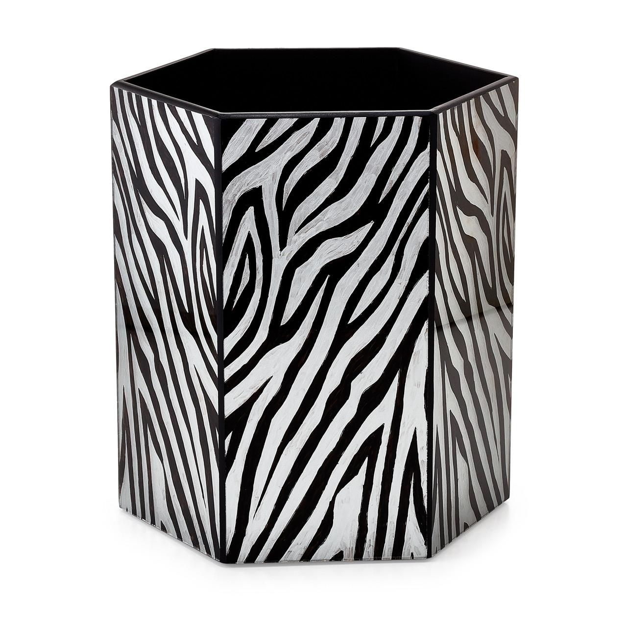 Zebra Waste Basket Labrazel