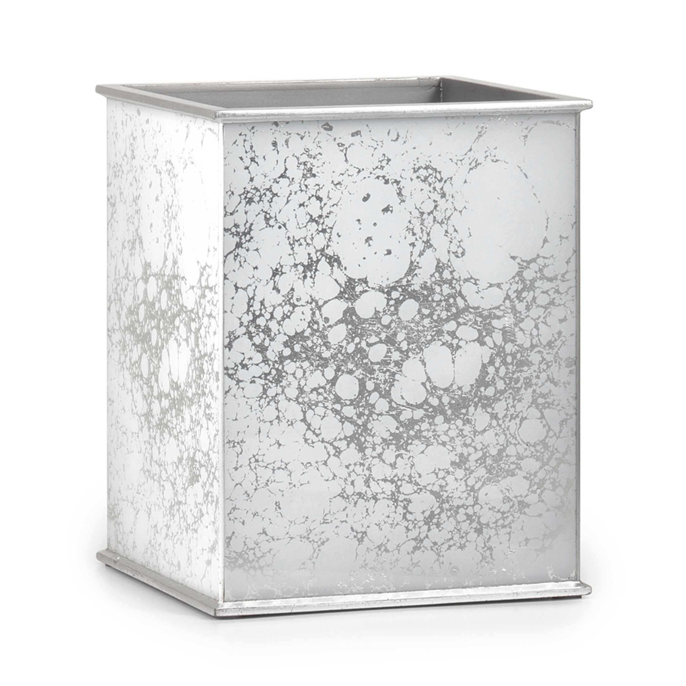 Amari Silver Waste Basket