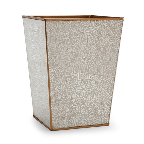Miraflores Gold Waste Basket