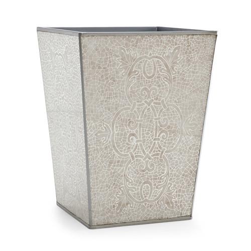 Miraflores Silver Waste Basket