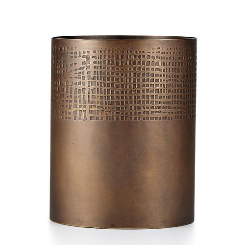 Scrim Bronze Waste Basket