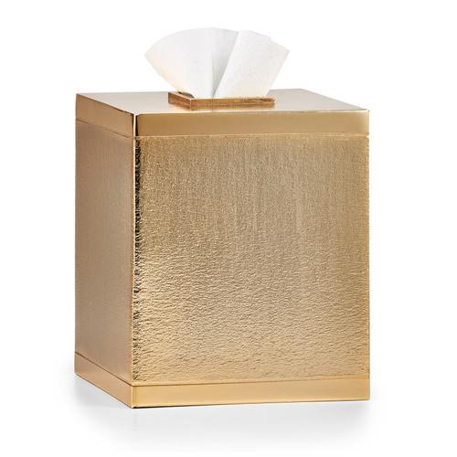 Mano Gold Tissue Cover - Square