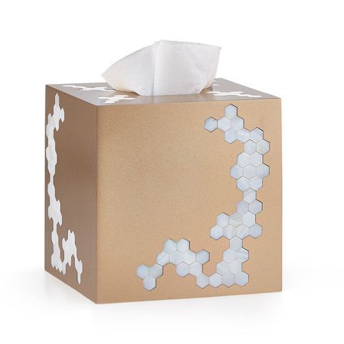 Hex Gold Tissue Cover